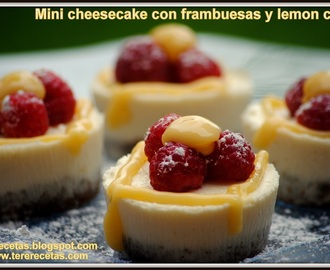 Minis cheesecakes con frambuesas y lemon curd. (Thermomix)