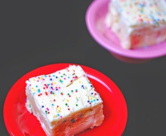No bake Funfetti cookie dough bars