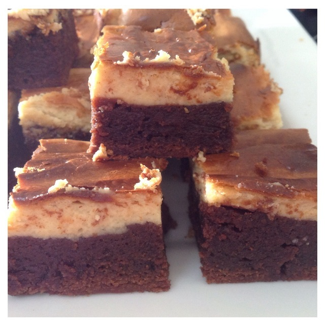 Chocolate and cream cheese brownies