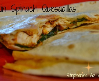 Pumpkin Spinach Quesadillas (Rachael Ray Recipe # 4 of 30)