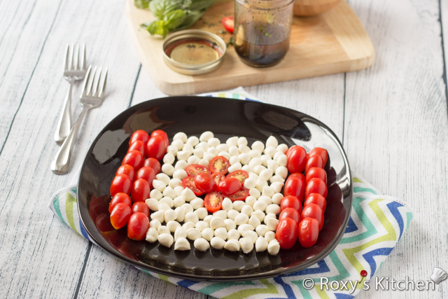 Caprese Salad for Canada Day