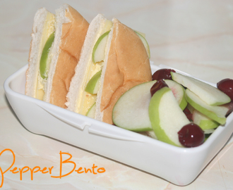 Cheese & Apple Roll With Fruit Salad Bento Lunch Box!