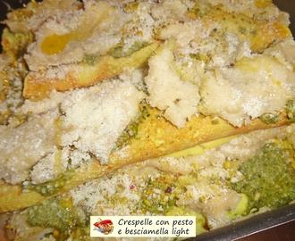 Crespelle con pesto e besciamella light