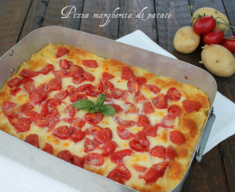 Pizza margherita di patate