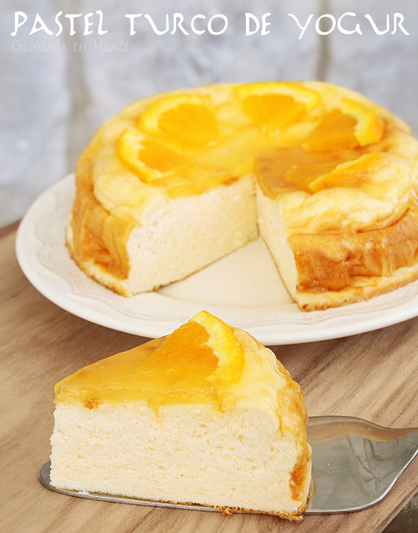 Pastel turco de yogur {Turkish yogurt cake with citrus syrup}