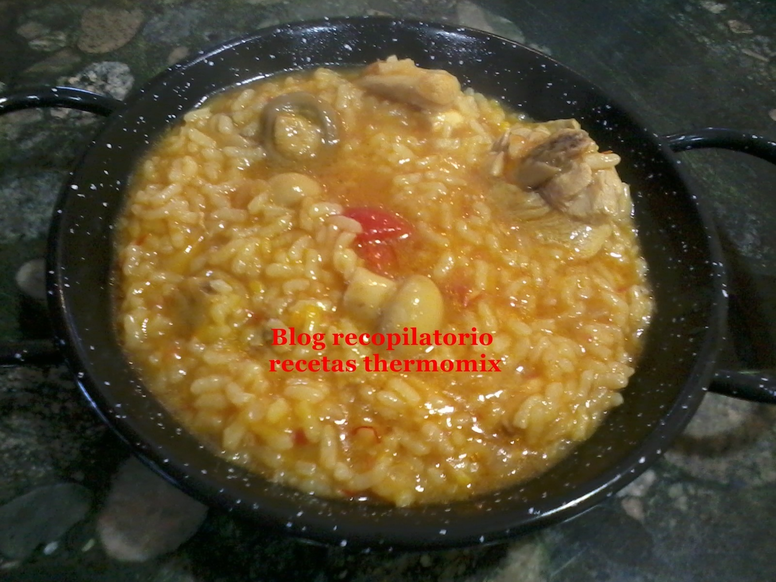 Arroz caldoso de pollo thermomix