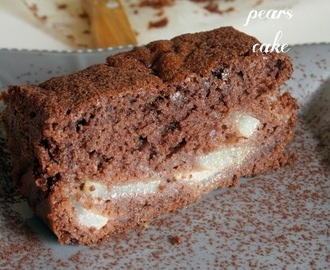 Torta pere e cioccolato light / Light chocolate and pears cake recipe