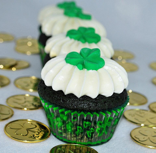 Green Velvet Cupcakes - St Patty's Day