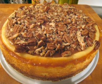 Pecan and Salted Caramel Cheesecake!