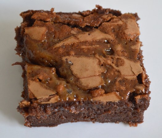 Gluten and Dairy Free Salted Caramel Brownies