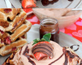 Strawberry Buttermilk Waffles with Chocolate Whipped Cream