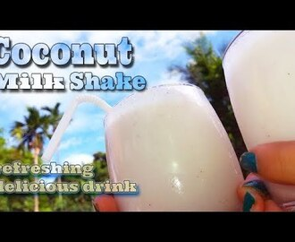 coconut milk shake recipe | Dairy free coconut milkshake - YouTube