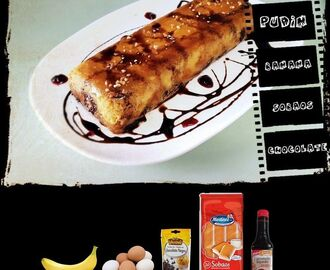 PUDIN DE BANANAS, SOBAOS Y CHOCOLATE by Amacooking