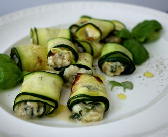 Ugnsrostad zucchini med getost / Roasted zucchini with goat cheese