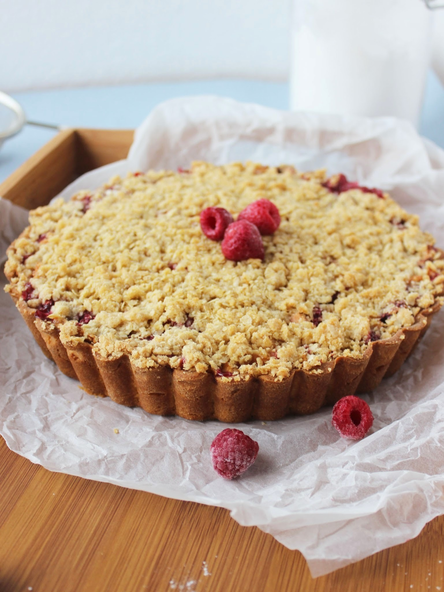 Pita od malina i jabuka / Crumble Raspberry Apple Pie