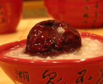 Sticky Rice Congee with Red Chinese Dates (红枣糯米稀饭)