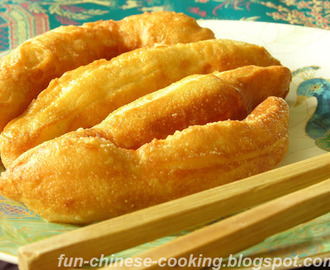 Alum Free Chinese You Tiao (Deep Fried Breadstick or Cruller) (油条)
