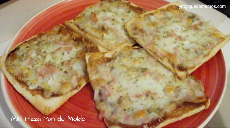 Mini Pizza de Pan de Molde con bacon