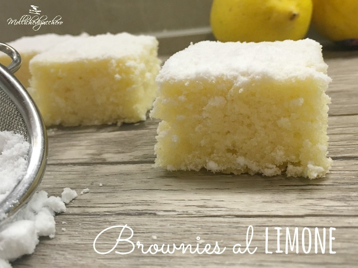 Brownies al limone ricetta facile