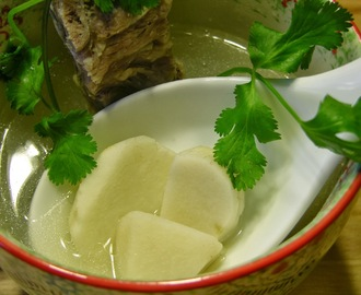 Small Taro Root Soup with Country Style Rib Bone (小芋头猪骨汤)