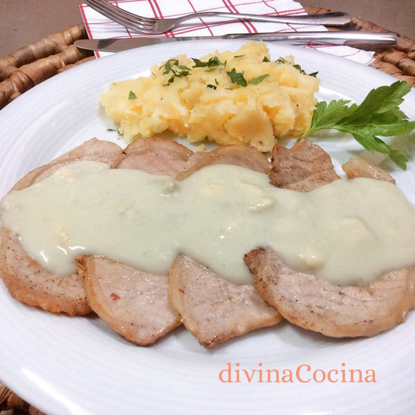 Filetes de lomo con salsa Roquefort