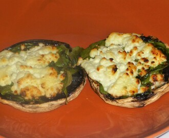 Easy Baked Mushroom's with Spinach and Goats Cheese Recipe