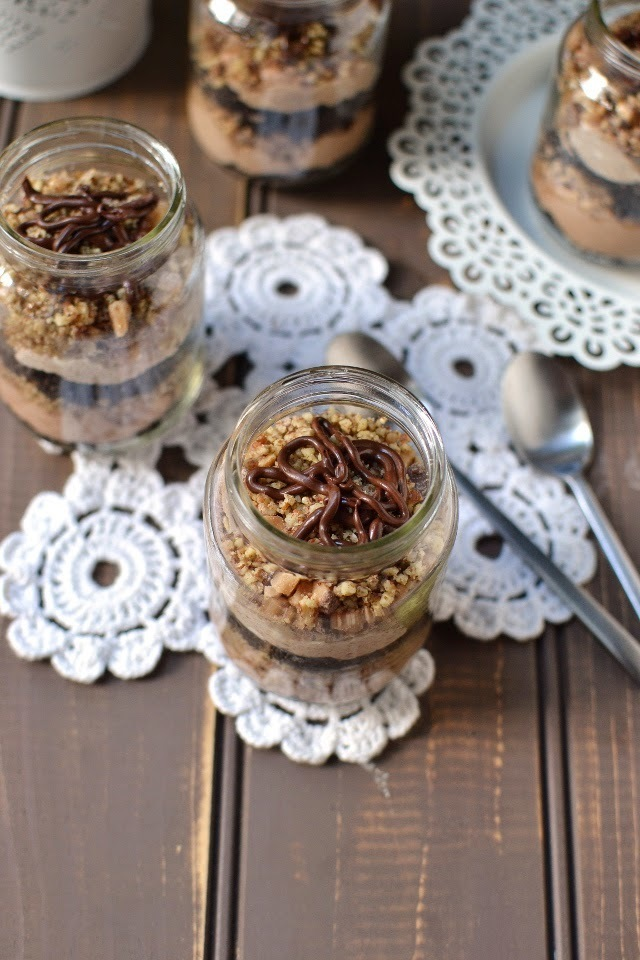 Individual No-Bake Chocolate Cheesecakes (in a bottle)