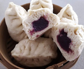 STEAMED PAUS - PURPLE SWEET POTATO FILLINGS