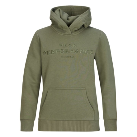 Peak Performance Junior Original Hoodie Barn Tröja Grön 150