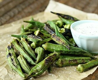 Char-Grilled Okra with Jalapeño Ranch and S'mores Skillet (Win a Weber Grill!)