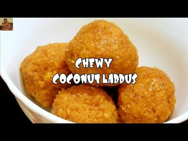 CHEWY COCONUT LADDUS