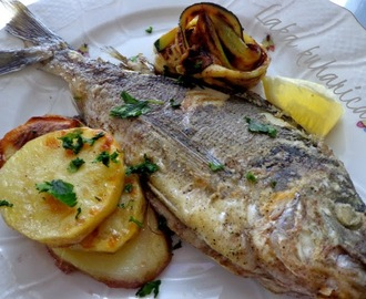 Orada s krumpirom i tikvicama :: Gilt-head bream with potatoes and zucchini