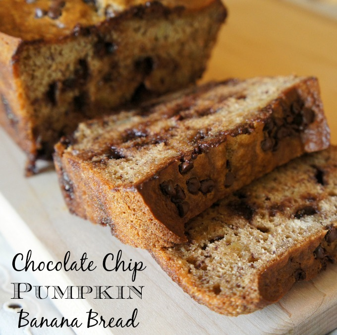 Chocolate Chip Pumpkin Banana Bread Recipe #PumpkinCan