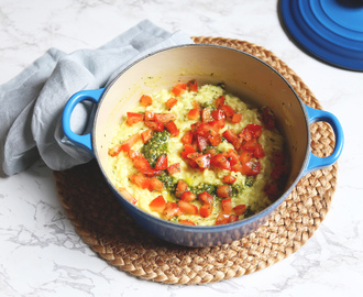 Risotto met tomatensalsa