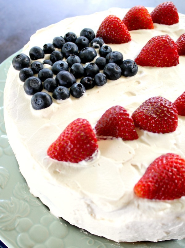 Poke Cake with Whipped Cream Frosting and No Artificial Colors