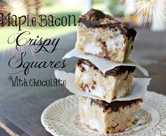 Maple Bacon Crispy Squares with Chocolate