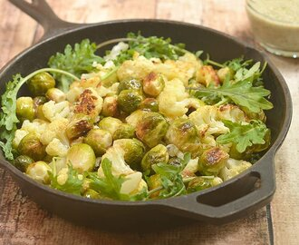 Roasted Brussels Sprouts and Cauliflower Salad