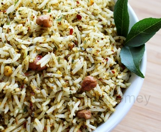 Curry Leaves Rice - Healthy Lunch Ideas