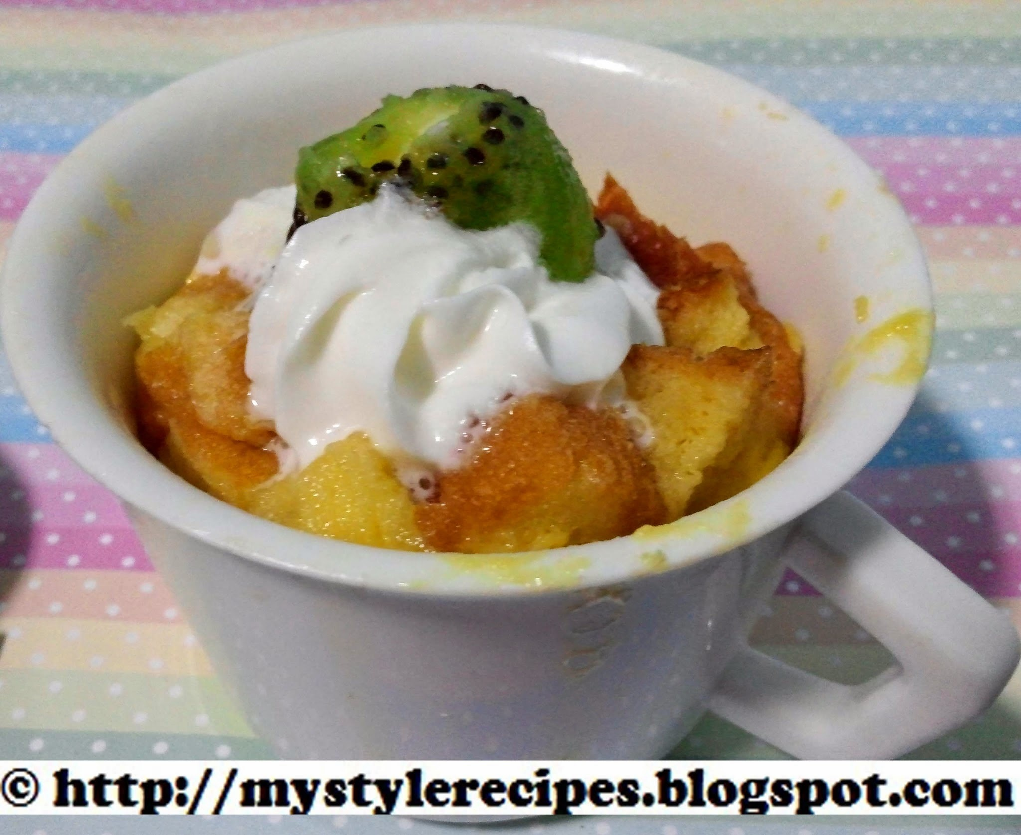 Mug Bread Pudding | 2 Minute Bread Pudding | Microwave Bread Pudding | Pudding Recipes
