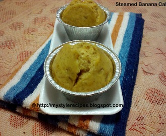 Eggless Steamed Banana Cake/Muffins