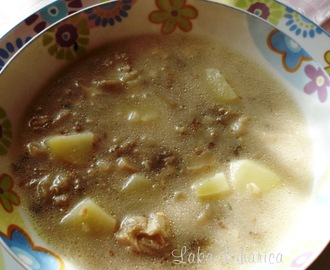 Juha s bukovačama i heljdom :: Soup with oyster mushrooms and buckwheat