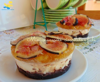 Mini cheesecake cioccolato e fichi