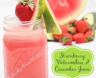 Strawberry, Watermelon and Cucumber Juice #Recipe! Delicious and Refreshing!