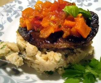 Balsamico odrezak s kašom od graha i šalšom :: Balsamic steak with white bean mash and salsa