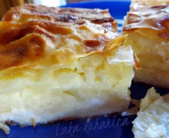 Pita s kiselim mlijekom i fetom :: Sour milk and feta cheese phyllo pie