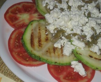 Red, green and white salad