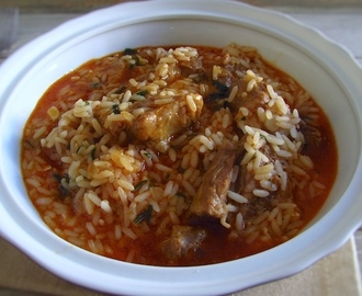 Entrecosto guisado com arroz | Food From Portugal