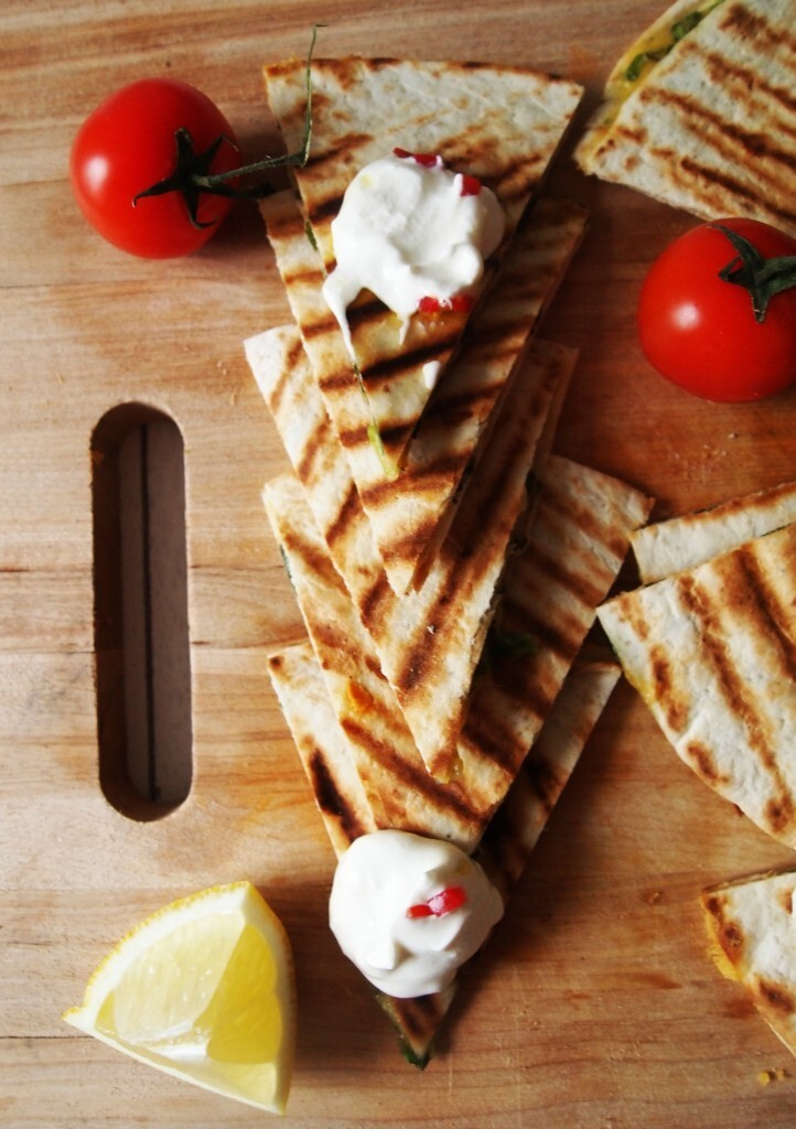 10-Minute Quesadillas with Soured Cream
