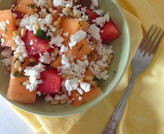 Melon, Mint and Feta Salad