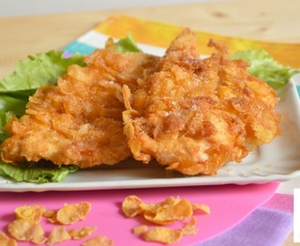 Fettine di pollo impanate con corn flakes